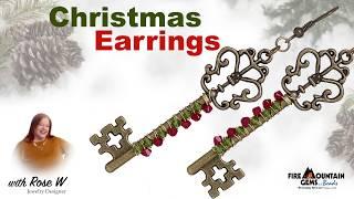 Key to Christmas Earrings
