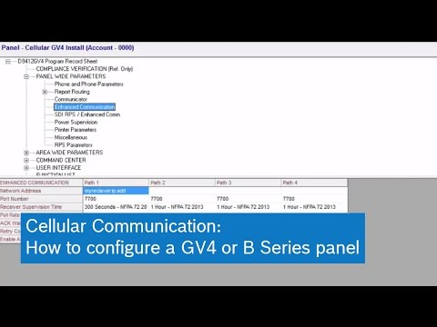 Cellular Communication: How to configure a GV4 or B Series panel