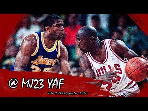 Michael Jordan vs Magic Johnson Highlights Bulls vs Lakers (1988.12.20) - 73pts, 20ast Combined!
