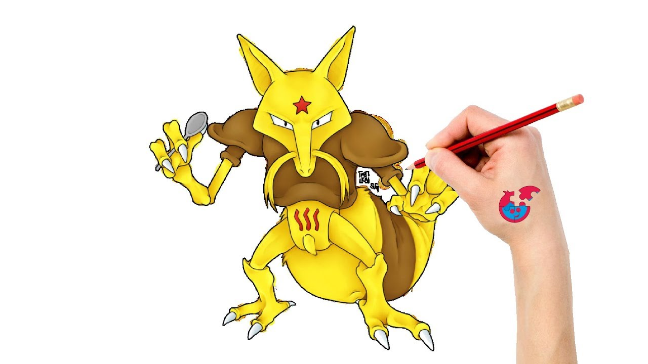 How To Draw Pokemon Kadabra For Toddlers Learning Drawing Puzzle Kid Youtube