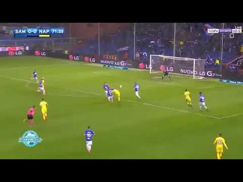Sampdoria VS Napoli - 0:2 - HIGHLIGHTS - Arek Milik strzela bramkę minutę po wejściu na boisko!