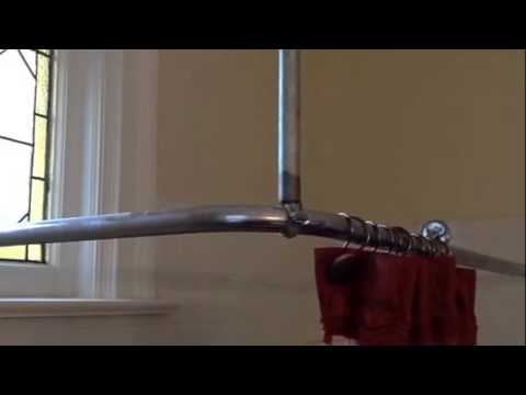 Curtain Rods corner shower curtain rods : How to support shower curtain rod - YouTube
