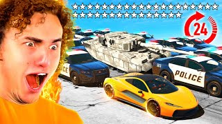 Playing GTA 5 Without BREAKING LAWS For 24 Hours!