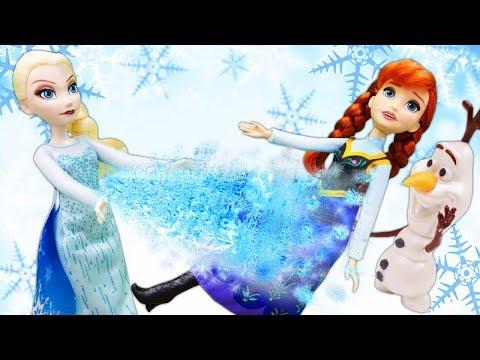 Видео про куклы из мультиков. Машины сказки. Эльза лечит Анну!