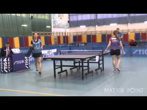 Anna TIKHOMIROVA - Polina MIKHAILOVA. Russian Women's Premier League 2014-2015. Play off