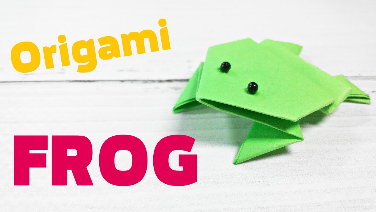 3d Origami Animals Frog That Jumps Easy Step By Far Base For Kids Beginners