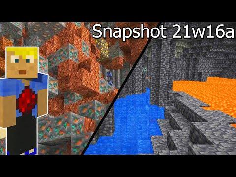 Riesige Erzvorkommen & mehr! Snapshot 21w16a Minecraft 1.17 Update
