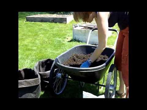 Demonstration How To Plant The Potato Grow Bag Youtube
