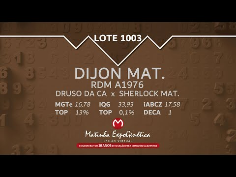 LOTE 1003 MATINHA EXPOGENÉTICA 2021