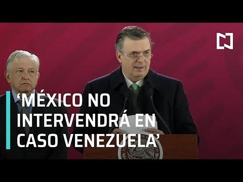 Marcelo Ebrard: México mantendrá postura de no intervención en Venezuela - Despierta con Loret