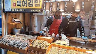 줄서서 먹는 전복 계란말이 김밥?!제주 맛집 삼춘네 전…