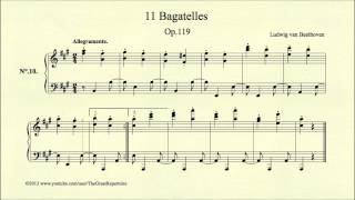 Beethoven, Bagatelle, Op 119, No 10 Allegramente