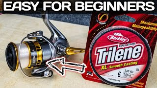 How to Spool a Spinning Reel | TIPS to Help Beginners!