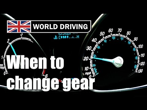 When to change gear in a manual/stick shift car. Changing gears tips. Learning to drive.
