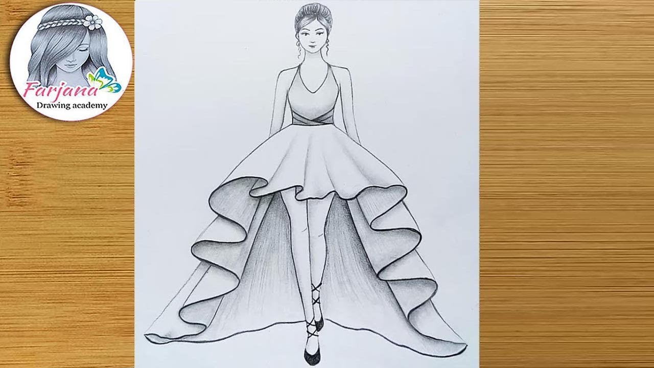 How To Draw A Girl With Beautiful Dress For Beginners Drawing Tutorial كيفية رسم فتاة Youtube Comment 'pencil' in your language! how to draw a girl with beautiful dress for beginners drawing tutorial كيفية رسم فتاة