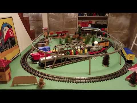 Schuco Disneyland Monorail on a Kusan Train Layout