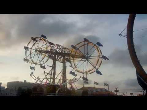 Double Ferris Wheel Amusement Park Carnival Ride Carolina Beach North Carolina