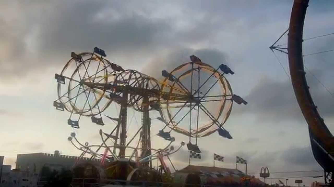double ferris wheel amusement park carnival ride carolina beach