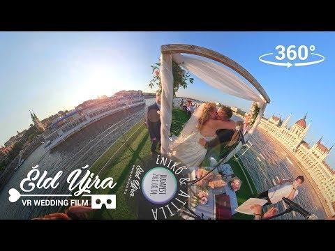 ÉldÚjra! Enikő és Attila esküvő 360° / wedding 360° on Danube, Budapest