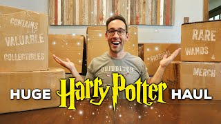 My HUGE Harry Potter Collection HAUL Unboxing | Rare & Valuable Merchandise!