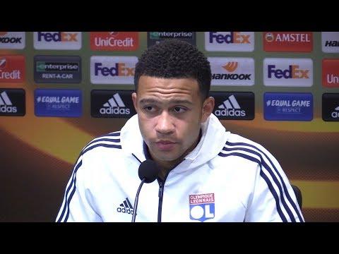 Memphis Depay Full Pre-Match Press Conference - Everton v Lyon - Europa League