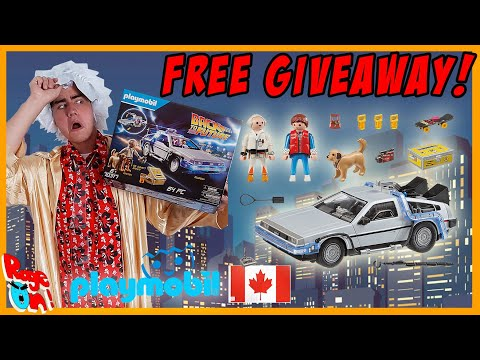 Free giveaway Back to the future playmobil Delorean Time machine for Canada 2020