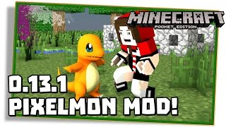 Minecraft PE 0.13.1: Pixelmon Mod! Capture seu pokémon! - (Pocket Edition / MCPE)