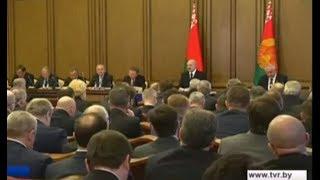Александр Лукашенко заслушал отчёт правительства, Нацбанка и региональных властей