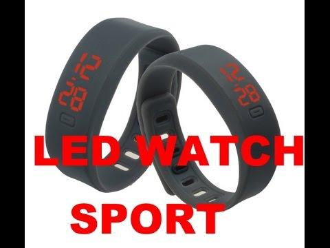 Led <b>sport watch bracelet</b> Date Silicone <b>Hot</b> New Mens Womens ...