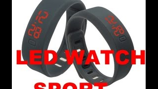 Led sport watch bracelet Date Silicone Hot New Mens Womens Casual Unisex Rubber