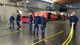 Formation des jeunes sapeurs-pompiers