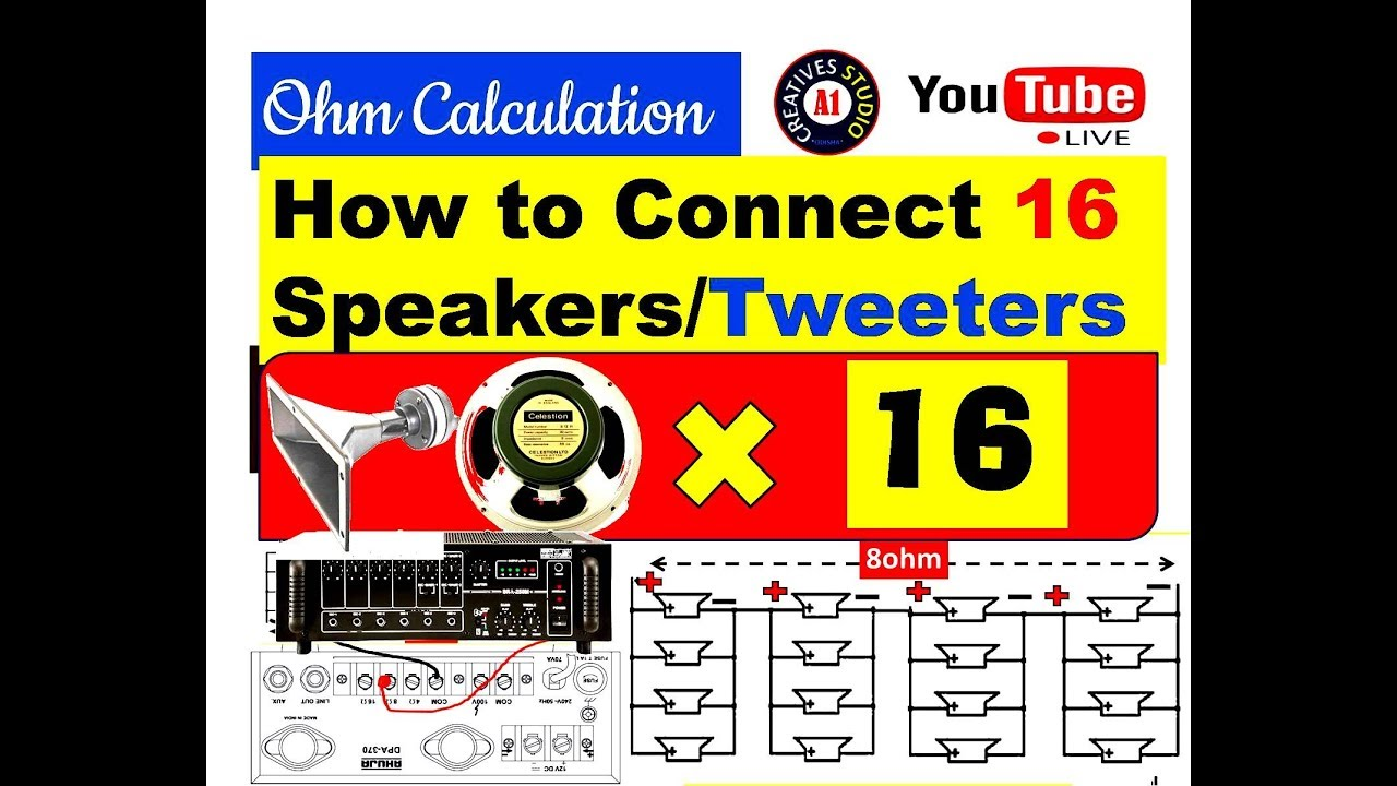 Tweeter Speaker Ohms Diagram Trusted Wiring Diagrams For Tweeters Connect 16 Speakers With Amplifier Full And Ohm