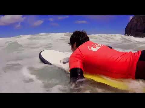 surfeando en laga surf camp - youtube