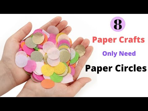 8 Easy Paper Craft Ideas/ DIY Paper Craft Made from Paper Circle By Aloha Crafts