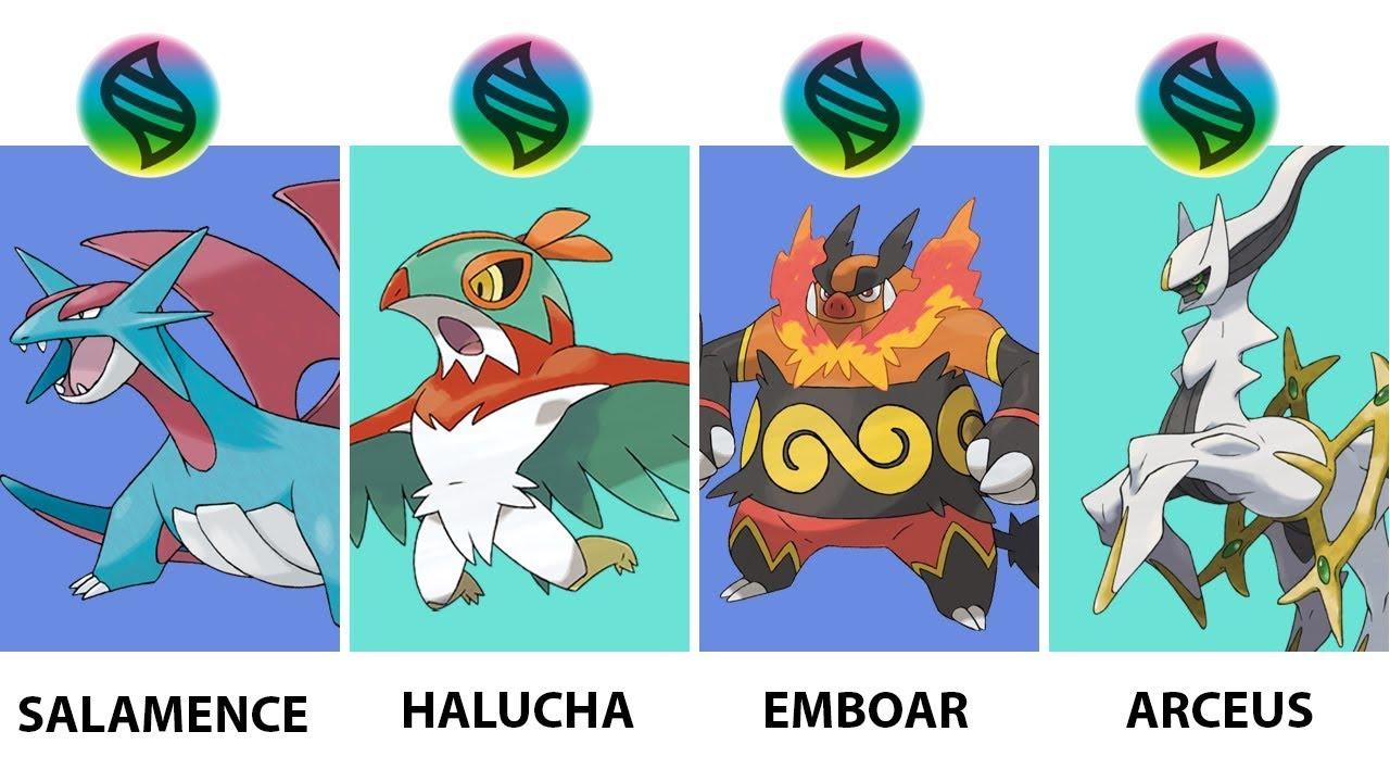 Pokemon Mega Evolution Halucha, Arceus, Emboar, Salamence ...