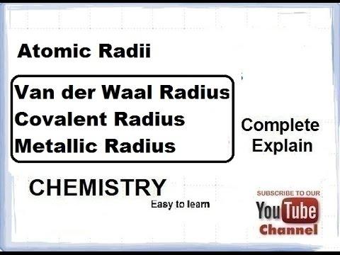 Chemistry atomic radius van der waal covalentmetallic grade chemistry atomic radius van der waal covalentmetallic grade class 11 xi urtaz Images