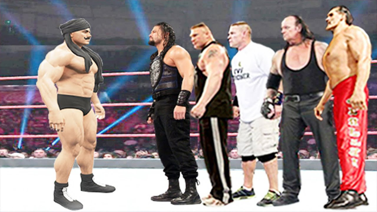 Dara Singh vs Roman Reigns, Brock Lesnar, John Cena, The Undertaker & The Great Khali