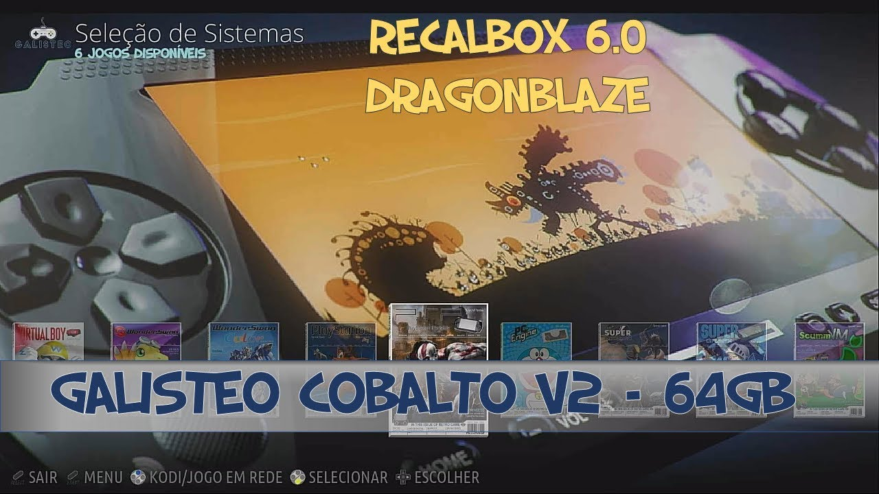 64gb Recalbox Image From Galisteo Colbato V2 Dragon Blaze