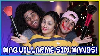 Adriana Luna- Maquillarme Sin Manos Challenge con Daniel El Travieso y Yonso.