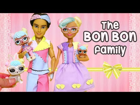 LOL Families ! The Bon Bon Family and the Frisky Kitty ! Toys and Dolls Fun for Kids | SWTAD