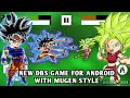 NEW DBS SAIYAN BATTLE MUGEN STYLE GAME FOR ANDROID DOWNLOAD 2018