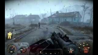 Fallout 4 Падение НЛО Добываем мощный пистоль чужих