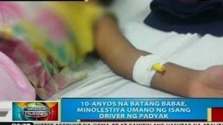 10-anyos na batang babae sa Cagayan  de Oro City, minolestiya umano ng isang driver ng padyak