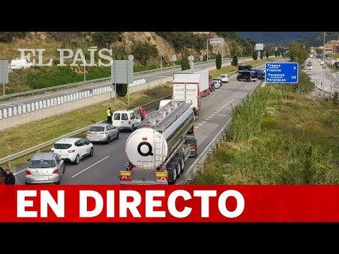 Tsunami Democràtic CORTA la AP-7 en La Jonquera - EL PAIS