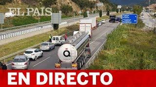 Tsunami Democràtic CORTA la AP-7 en La Jonquera