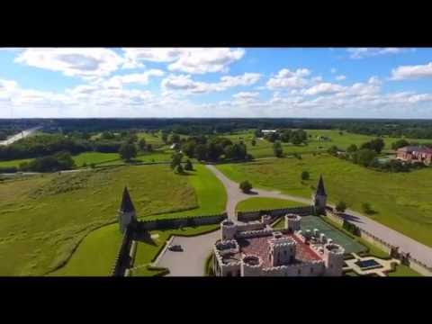 """Quick fly-over a """"castle"""" in Versailles Ky"""