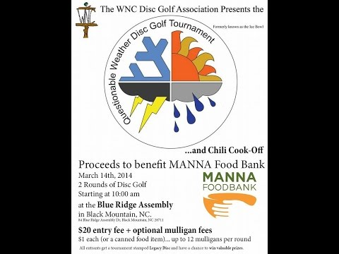 2015 Questionable Weather Charity Disc Golf tournament & Chili cook-off