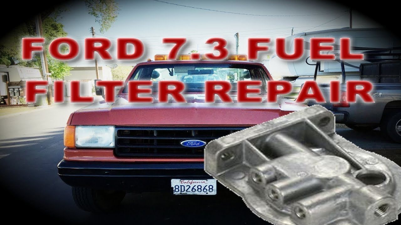 1990 ford f superduty fuel filter heater water separator repair o ring replacement Ford F-250 Diesel Truck
