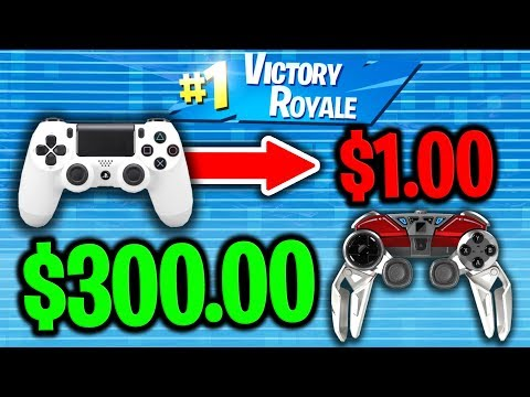 USING $1 CONTROLLER VS $300 CONTROLLER ON PS4 FORTNITE!