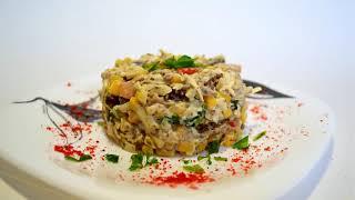 Салат со Шпротами. Вкусно, Быстро и Просто. Любимый салат. Salad with sprats.